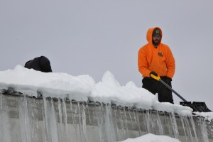 roof shoveling